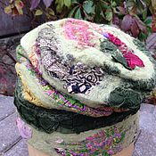 Аксессуары ручной работы. Ярмарка Мастеров - ручная работа Валяная шапка Зеленая зеленоватая. Handmade.
