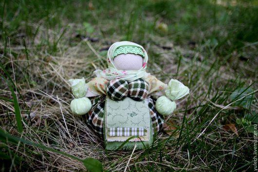 """Народные куклы ручной работы. Ярмарка Мастеров - ручная работа. Купить Куколка-кубышка """"Здравушка"""". Handmade. Зеленый, кубышка, травы"""