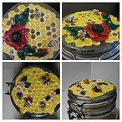 Посуда ручной работы. Ярмарка Мастеров - ручная работа Баночка для меда. Handmade.