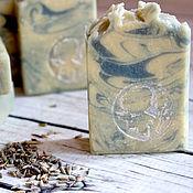 Косметика ручной работы. Ярмарка Мастеров - ручная работа Сливочная Лаванда ароматное натуральное мыло с нуля. Handmade.