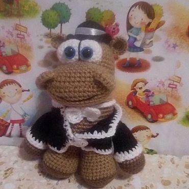 Куклы и игрушки ручной работы. Ярмарка Мастеров - ручная работа Игрушки: Бегемотик во раке. Handmade.