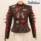 Одежда handmade. Livemaster - original item Exclusive women`s genuine leather jacket with choker collar.. Handmade.