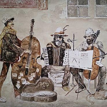 """Картины и панно ручной работы. Ярмарка Мастеров - ручная работа Картина """"Уличный концерт"""" холст, масло. Handmade."""
