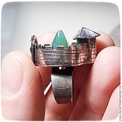 Украшения handmade. Livemaster - original item Silver ring with chrysoprase