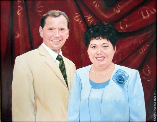 Люди, ручной работы. Ярмарка Мастеров - ручная работа. Купить Портрет семейной пары. Handmade. Портрет на заказ, красивый подарок