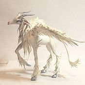 Куклы и игрушки ручной работы. Ярмарка Мастеров - ручная работа Фигурка белая крылатая коза,статуэтка коза,скульптура коза. Handmade.