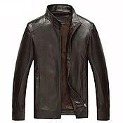 Мужская одежда handmade. Livemaster - original item Men`s outerwear: calf leather jacket, zipper.. Handmade.