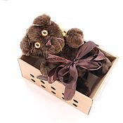 Куклы и игрушки ручной работы. Ярмарка Мастеров - ручная работа Вислоухий шоколадный котик. Handmade.