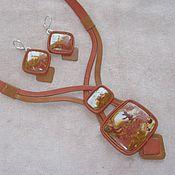 """Украшения ручной работы. Ярмарка Мастеров - ручная работа Комплект с яшмой """"Сказочная тайга"""". Handmade."""