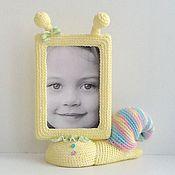 Для дома и интерьера ручной работы. Ярмарка Мастеров - ручная работа Фоторамка для девочки Улитка. Handmade.