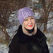 Аксессуары handmade. Livemaster - original item Cap beanie felted wool women`s warm grey lilac hat. Handmade.