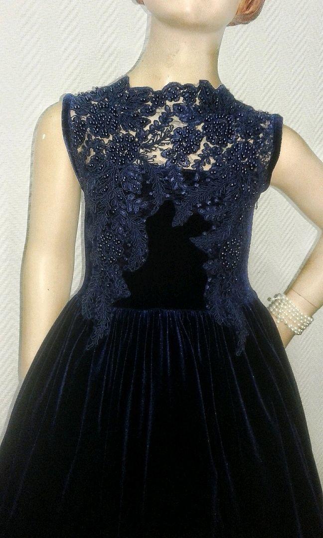 Детское платье из бархата и кружева, Платье, Брянск,  Фото №1