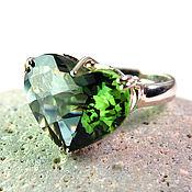 """Украшения ручной работы. Ярмарка Мастеров - ручная работа """"Надежда"""" кольцо с зеленым аметистом на серебре 925. Handmade."""