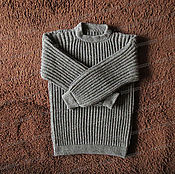 Одежда handmade. Livemaster - original item Sweater from sheep wool without a collar, grey (No. №6). Handmade.