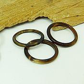 Украшения handmade. Livemaster - original item Thin ring of brown agate 15.5-16 p-p. Handmade.