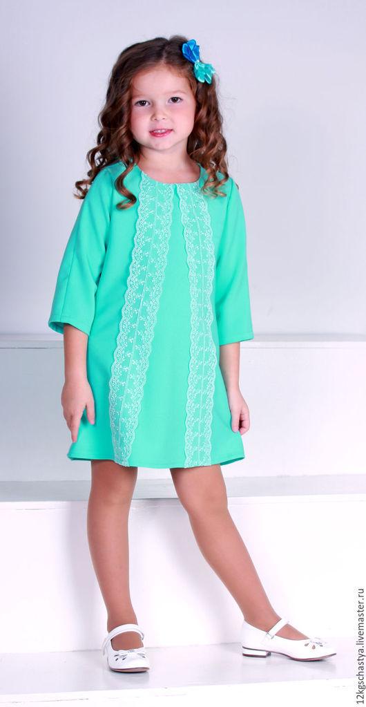 """Одежда для девочек, ручной работы. Ярмарка Мастеров - ручная работа. Купить Платье для девочки """"Мальвинка"""". Handmade. Мятный, платье для девочки"""