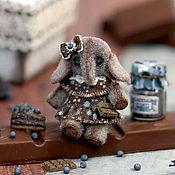 Куклы и игрушки ручной работы. Ярмарка Мастеров - ручная работа Микро-слоник Blueberry (3,3см). Handmade.
