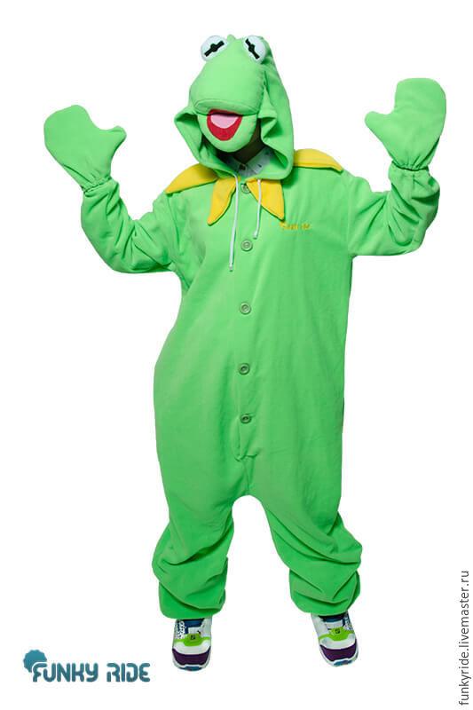 Kermit frog Kigurumi - Custom Handmade - Anti-pill Fleece Pyjamas
