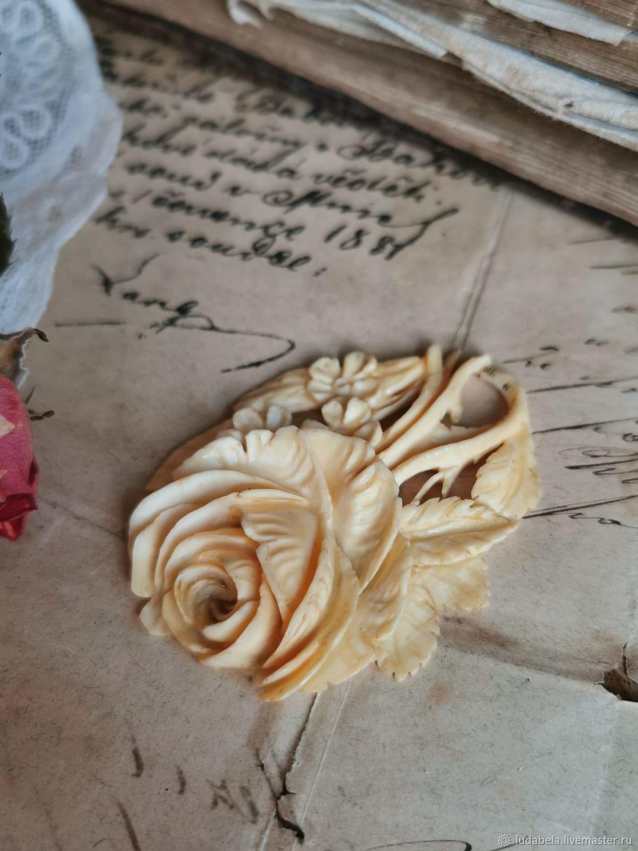 Винтаж: Неповторимый редчайший кулон роза из натуральной слоновой кости, Кулоны винтажные, Геттинген,  Фото №1