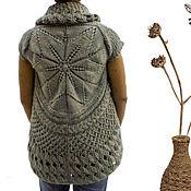 """Одежда ручной работы. Ярмарка Мастеров - ручная работа Вязаный жилет """"Ботаника"""" по мотивам Шири Мор. Handmade."""