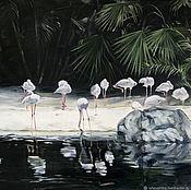 Картины и панно handmade. Livemaster - original item Oil painting Tropical 55h80 cm. Handmade.