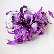 Украшения handmade. Livemaster - original item Silk flowers. Brooch decoration FANCY ORCHID