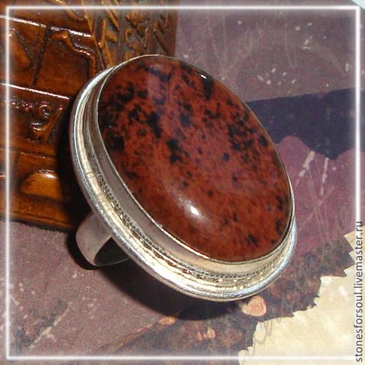 """Кольца ручной работы. Ярмарка Мастеров - ручная работа. Купить кольцо в серебре 925 пр. """"Природа камня"""". Handmade. Коричневый"""