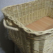 Для дома и интерьера handmade. Livemaster - original item A rectangular box of willow twigs with handles made of rope. Handmade.