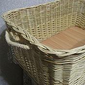 Для дома и интерьера handmade. Livemaster - original item A rectangular box of willow twigs with handles made of rope. Handmade.