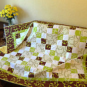 Для дома и интерьера handmade. Livemaster - original item blanket pistachio ice cream.. Handmade.