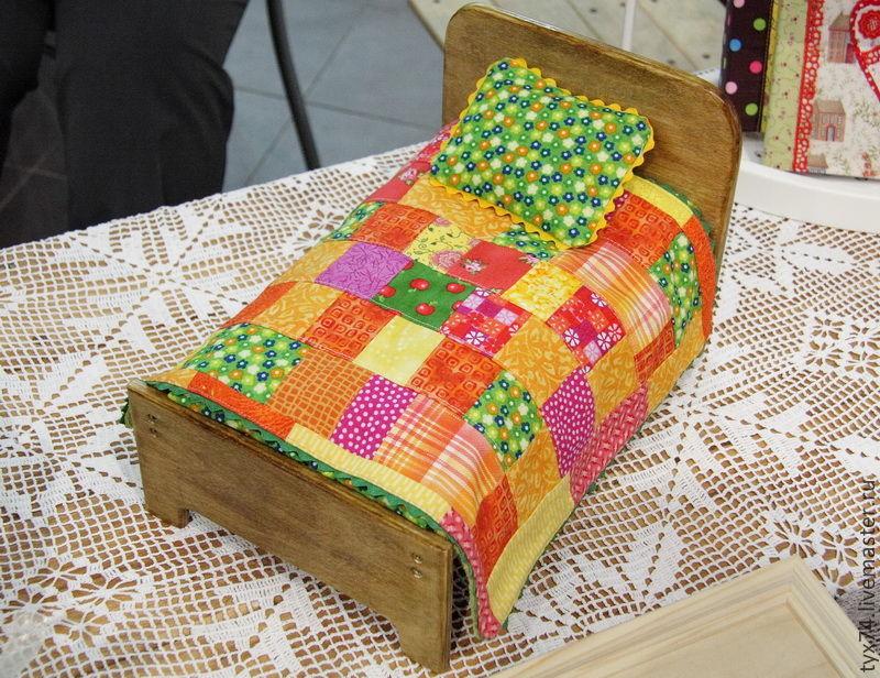 Кроватка для зверюшки или куклы (яркий комплект), Мебель для кукол, Краснодар,  Фото №1