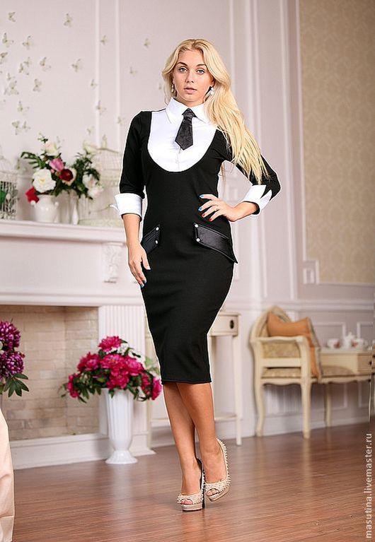 """Платья ручной работы. Ярмарка Мастеров - ручная работа. Купить Платье """"Сhief"""". Handmade. Чёрно-белый, черное платье"""