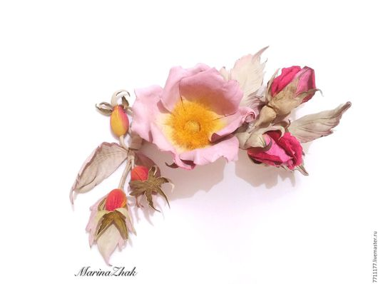 Цветы ручной работы. Ярмарка Мастеров - ручная работа. Купить Шиповник цветущий  - ангельский цветок. Handmade. Комбинированный, нежный цвет
