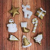 Подарки к праздникам ручной работы. Ярмарка Мастеров - ручная работа Набор елочных игрушек 9 шт (игрушки на елку). Handmade.