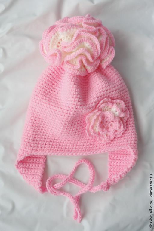 Шапки и шарфы ручной работы. Ярмарка Мастеров - ручная работа. Купить Шапочка розовая. Handmade. Розовый, шапка для девочки
