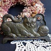 Винтаж ручной работы. Ярмарка Мастеров - ручная работа Салфетница из Германии кошка. Handmade.