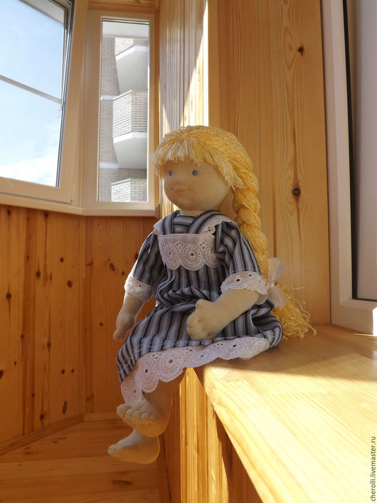 Вальдорфская игрушка ручной работы. Ярмарка Мастеров - ручная работа. Купить Куколка. Handmade. Кукла, игровая кукла, хлопок 100%