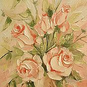 Картины и панно handmade. Livemaster - original item a bouquet of roses. Handmade.