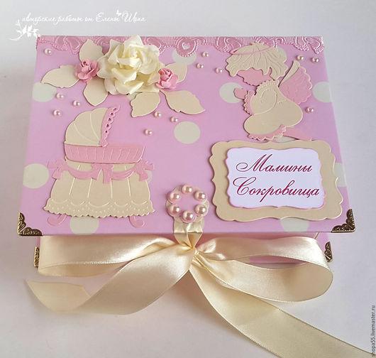 """Подарки для новорожденных, ручной работы. Ярмарка Мастеров - ручная работа. Купить Мамины сокровища """"Колыбель"""". Handmade. Бледно-розовый, Скрапбукинг"""