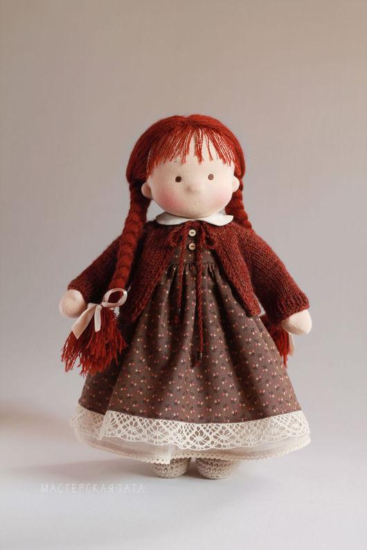Коллекционные куклы ручной работы. Ярмарка Мастеров - ручная работа. Купить Игровая текстильная куколка. Handmade. Вальдорфская кукла