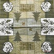 Материалы для творчества handmade. Livemaster - original item Napkins for decoupage patchwork knitted with flowers winter. Handmade.