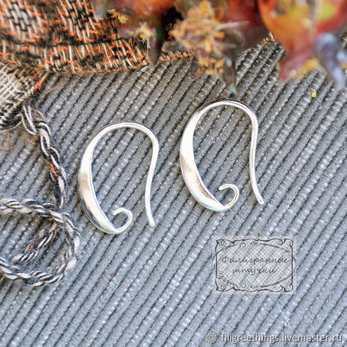 Для украшений ручной работы. Ярмарка Мастеров - ручная работа. Купить Швензы основа для серег крючок Фурнитура для украшений и бижутерии. Handmade.