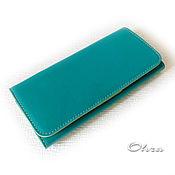 """Wallets handmade. Livemaster - original item Кошелек кожаный """"Удачный"""" бирюзовый. Handmade."""