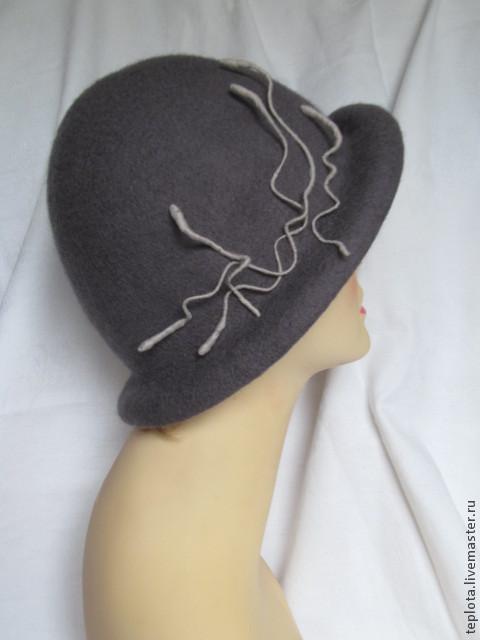 """Шляпы ручной работы. Ярмарка Мастеров - ручная работа. Купить шляпка валяная """"Туманный альбион"""". Handmade. Темно-серый, шляпка"""