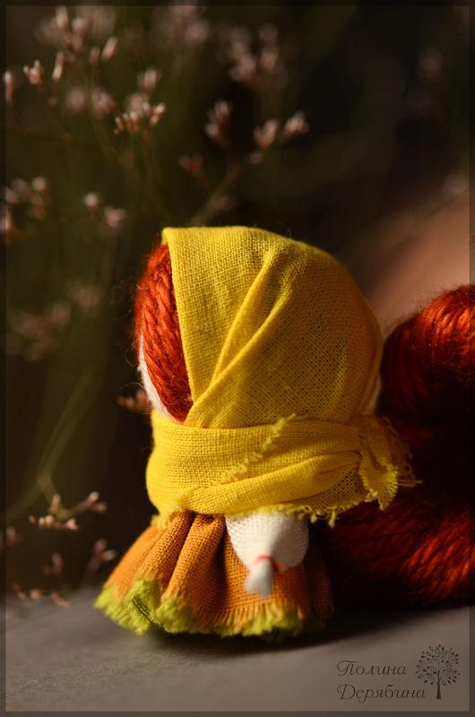 """Народные куклы ручной работы. Ярмарка Мастеров - ручная работа. Купить Кукла-оберег на счастье """"Солнечная"""". Handmade. Желтый, обереговая"""