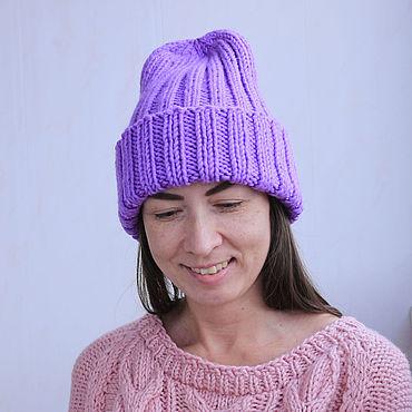 Accessories handmade. Livemaster - original item Hat lilac. Handmade.