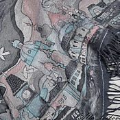 """Аксессуары ручной работы. Ярмарка Мастеров - ручная работа Теплый батик, валяный бактус """"Весна в сером городе"""". Handmade."""