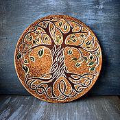 Посуда handmade. Livemaster - original item Tree of life - plate. Handmade.