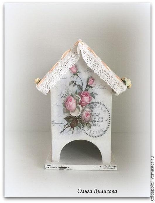 """Кухня ручной работы. Ярмарка Мастеров - ручная работа. Купить Чайный домик   стиле Шебби шик """"Розовые розы"""". Handmade."""