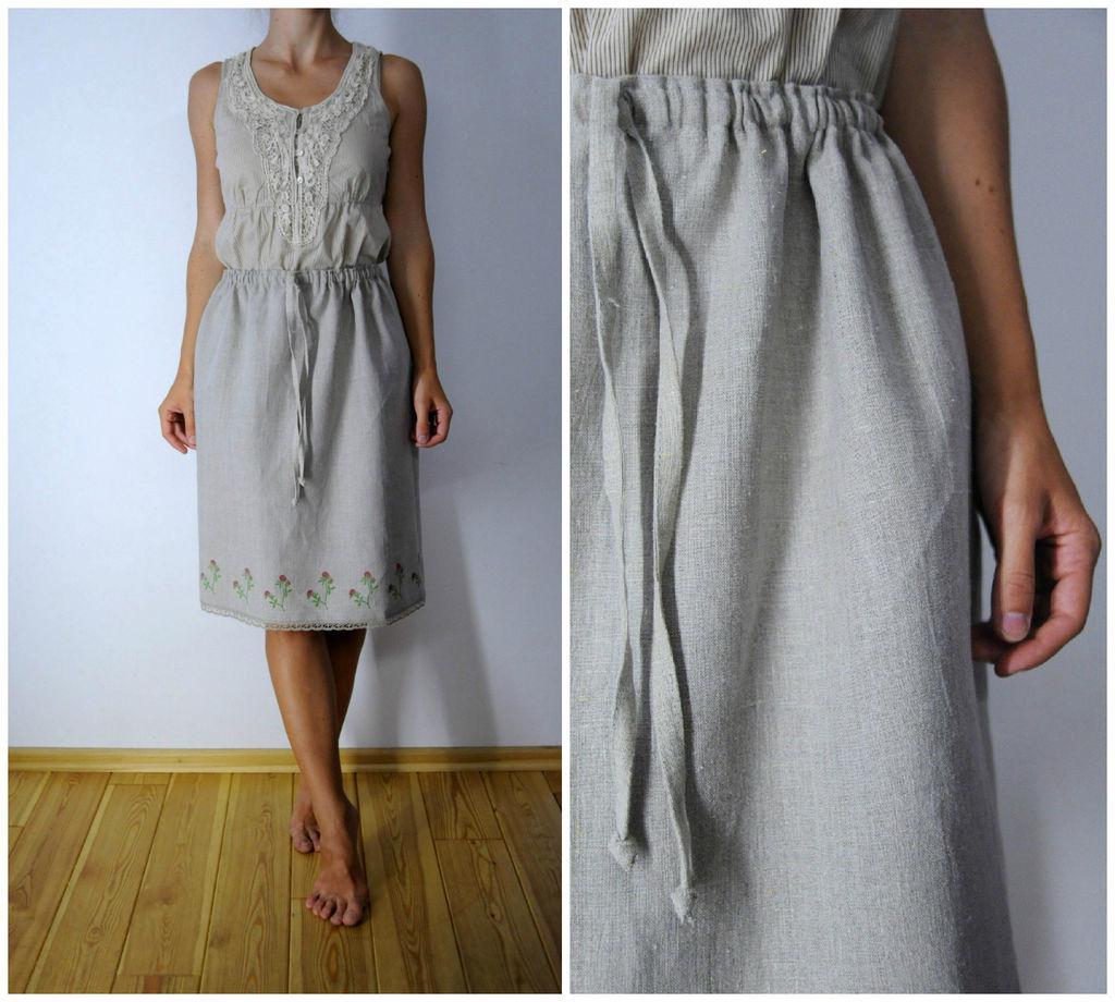 Платье из льна своим руками 56